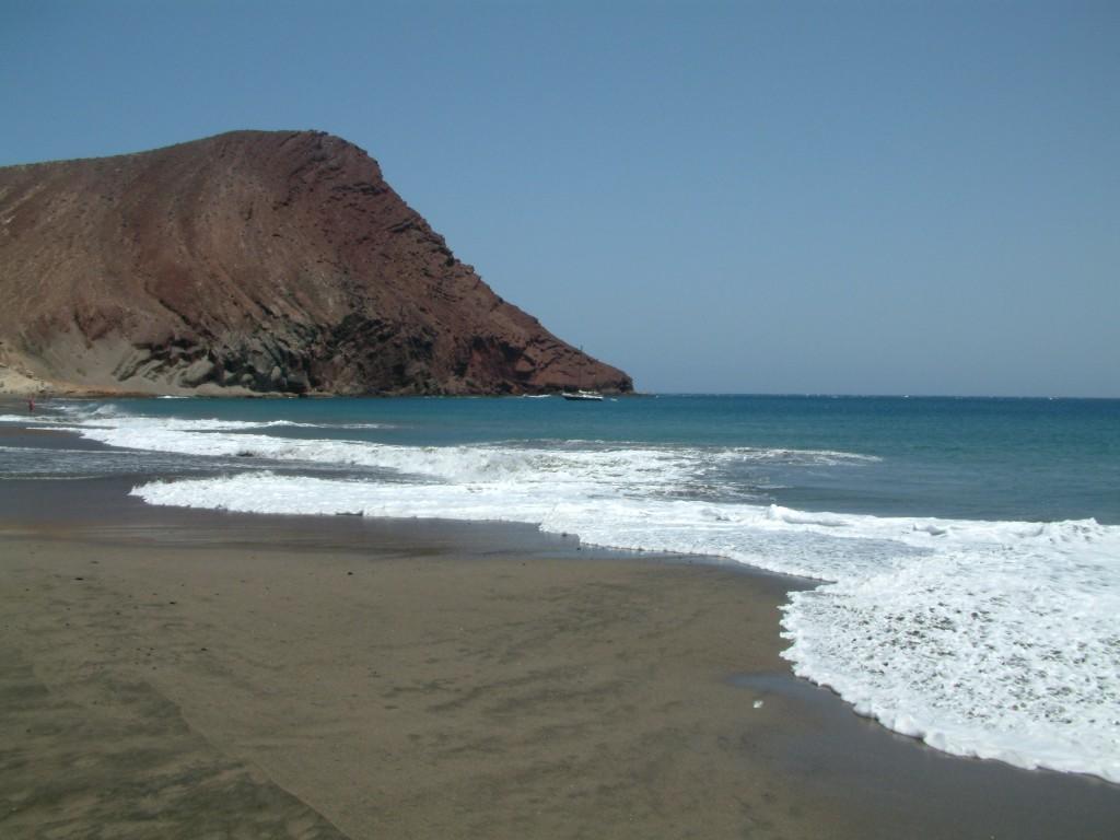 Plaża la Tejita i Mountana Roja na Teneryfie