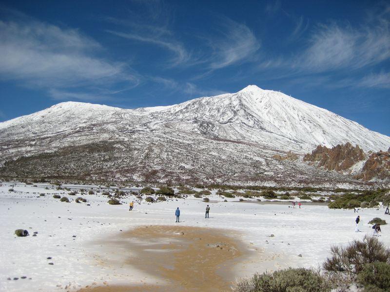 Śnieg na Teide