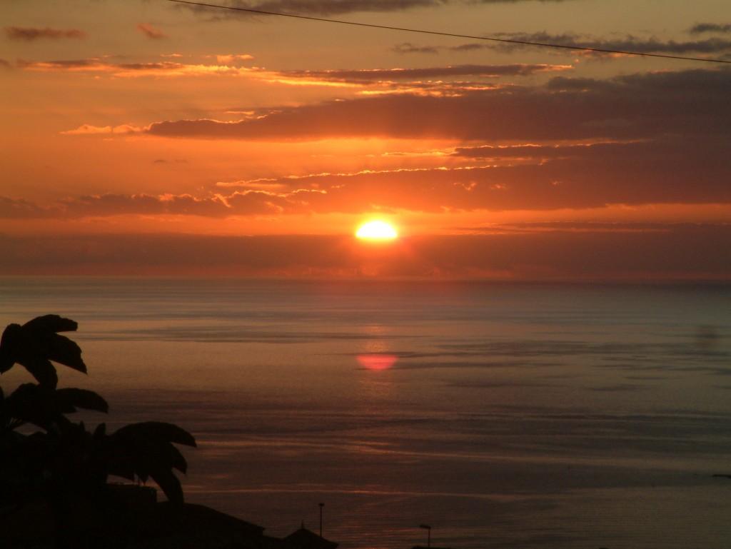 Zachód słońca na Teneryfie