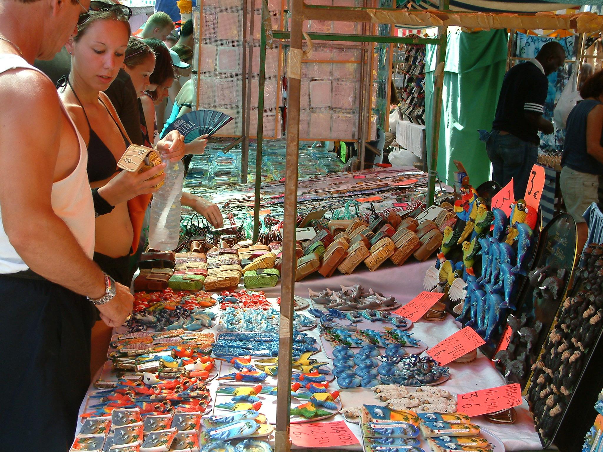 Market w Los Cristianos